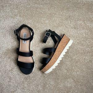 Steve Madden Cork Platform Wedge Sandal Size 7.5